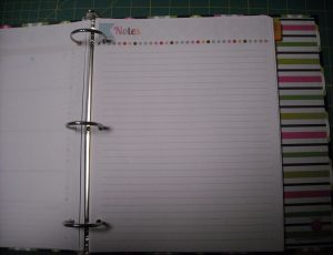 Notespage
